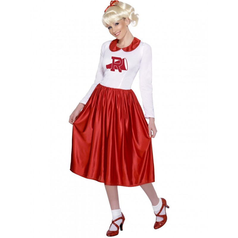Brand New Grease Rydell High Cheerleader 1950s Adult Costume