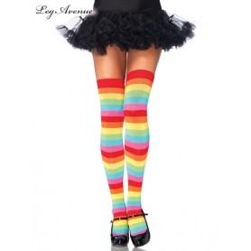 Rainbow Thigh Highs Multi-colour - One Size