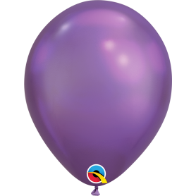 "Qualatex 11"" Round Latex Balloon - Chrome Purple"