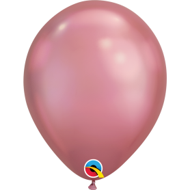"Qualatex 11"" Round Latex Balloon - Chrome Mauve"