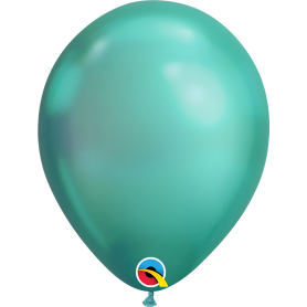 "Qualatex 11"" Round Latex Balloon - Chrome Green"