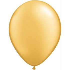 "Qualatex 11"" Round Latex Balloon - Metallic Gold"