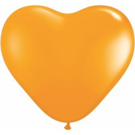 "Qualatex 6"" Heart Latex Balloon - Orange"