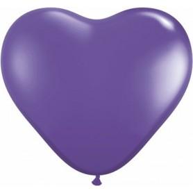"Qualatex 6"" Heart Latex Balloon - Purple Violet"