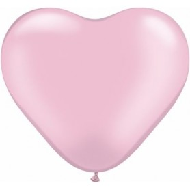 "Qualatex 6"" Heart Latex Balloon - Pearl Pink"