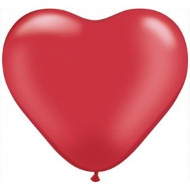 "Qualatex 6"" Heart Latex Balloon - Pearl Ruby Red"