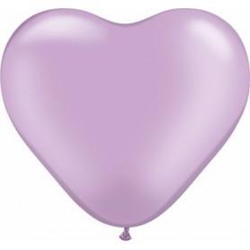 """Qualatex 6"""" Heart Latex Balloon - Pearl Lavender"""