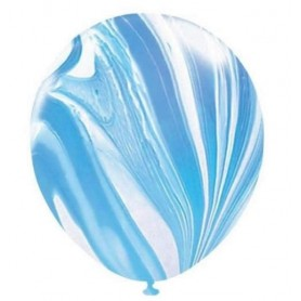 "Marble Blue - 11"" Artwrap Latex Balloons"