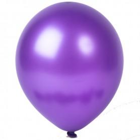 "Amscan 11"" Round Latex Balloon - Metallic Purple"