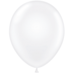 "T.T Latex 14"" 35cm Round Balloon - Crystal Clear"