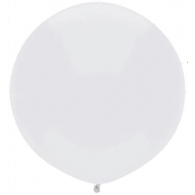 "Qualatex 17"" 40cm Round Latex Balloon - Bright White"