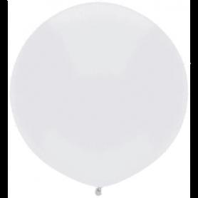 "Qualatex 17"" 40cm Round Latex Balloon - Bright White"