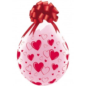 "Qualatex Stuffing Balloon 18"" - Hearts & Hearts"