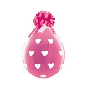 "Qualatex Stuffing Balloon 18"" - Big Hearts (Clear)"