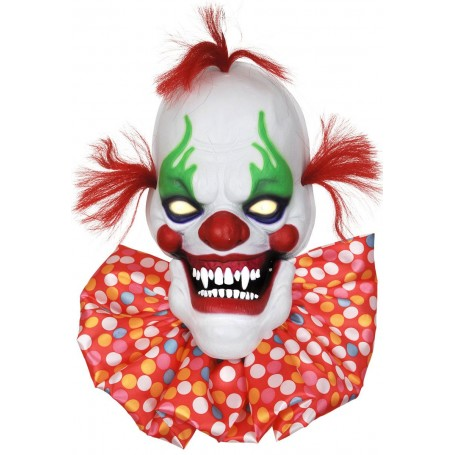 Creepy Talking Clown Head with Light Up Eye