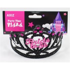 Tiara Bride to Be - Black with Pink Rhinestones