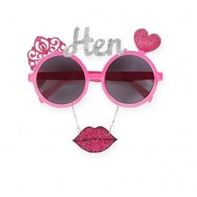 Hens Glitter Party Glasses