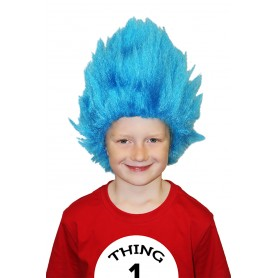 Deluxe Creepy Thing Blue Wig - Child