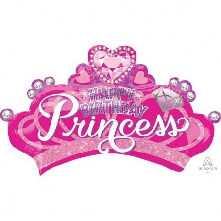 "Princess Crown 22"" Foil Balloon - Happy Birthday"