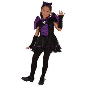 Girls Purple Bat Costume - Small