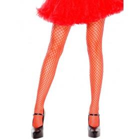 Fishnet Stockings - Red