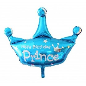 "Prince Crown 36"" Foil Balloon - Happy Birthday"