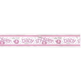 Pink Baby Shower Banner - 1.8m