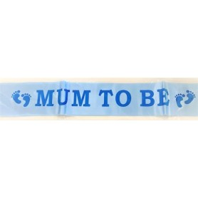 Mum To Be Sash - Blue - 1.5m