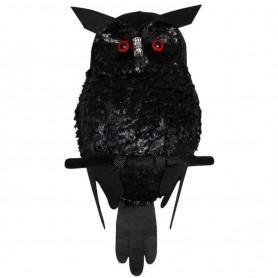 Black Plush Owl - Light Up Eyes