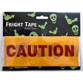 Caution Tape Red 6m x 7.5cm - Halloween Decoration