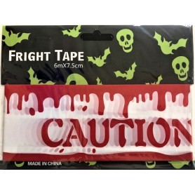 Caution Tape 6m x 7.5cm - Blood Drips