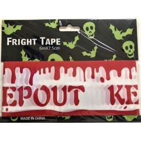 Keep Out Tape 6m x 7.5cm - Blood Drips