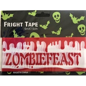 Zombie Feast Tape 6m x 7.5cm - Blood Drips