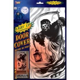 Grim Reaper Light Up Door Cover - 76.2cm x 152.4cm