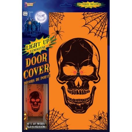 Skull Light Up Door Cover - 76.2cm x 152.4cm