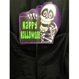 Happy Halloween Sign - Skeleton
