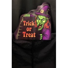 Trick or Treat Sign - Witch
