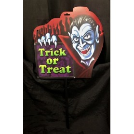 Trick or Treat Sign - Dracula
