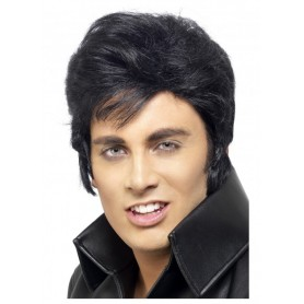 Licensed Elvis Wig - Black