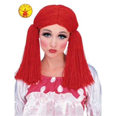 Rag Doll Girl Wig Red - 14+