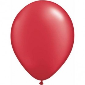 """Qualatex 11"""" Round Latex Balloon - Pearl Ruby Red"""