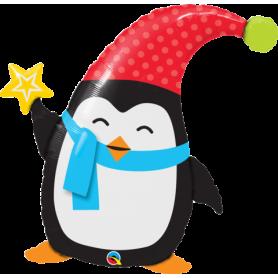 "Qualatex Foil Shape 35"" Popular Elfin Penguin"