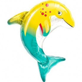 Happy Dolphin Large Foil Balloon 79cm