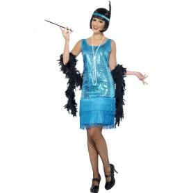 20s Gatsby Flirty Flapper Costume - Large