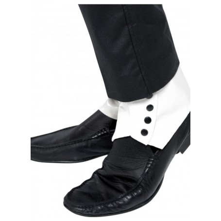 Shoe Spats Gangster - White (Pair)