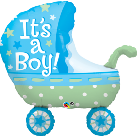 "It's a Boy Stroller - 35"" Foil Balloon"