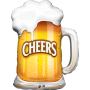 "Cheers! Beer Mug - 35"" Foil Balloon"