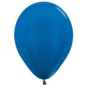 "12"" Round Latex Balloon - Metallic Royal Blue"
