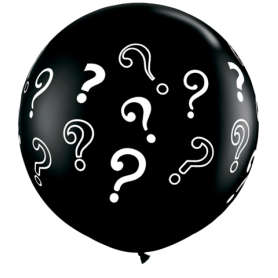 Gender Reveal Question Mark Latex Balloon - 3ft