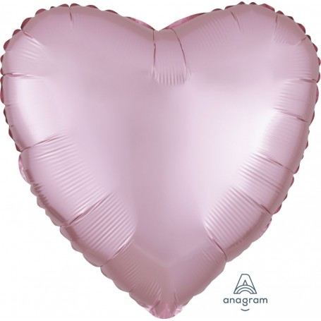 Satin Luxe Foil Heart Balloon 17inch - Pastel Pink